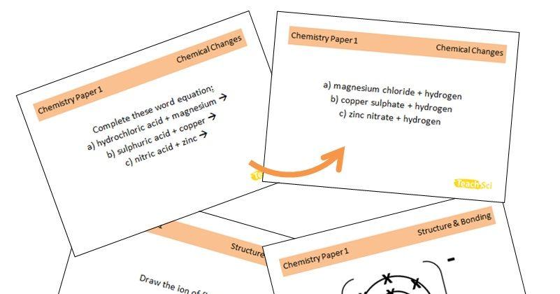 Chemistry AQA GCSE Flashcards (Paper 1)