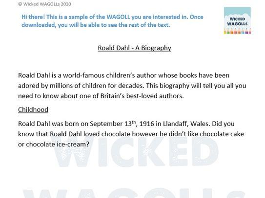 Roald Dahl Biography
