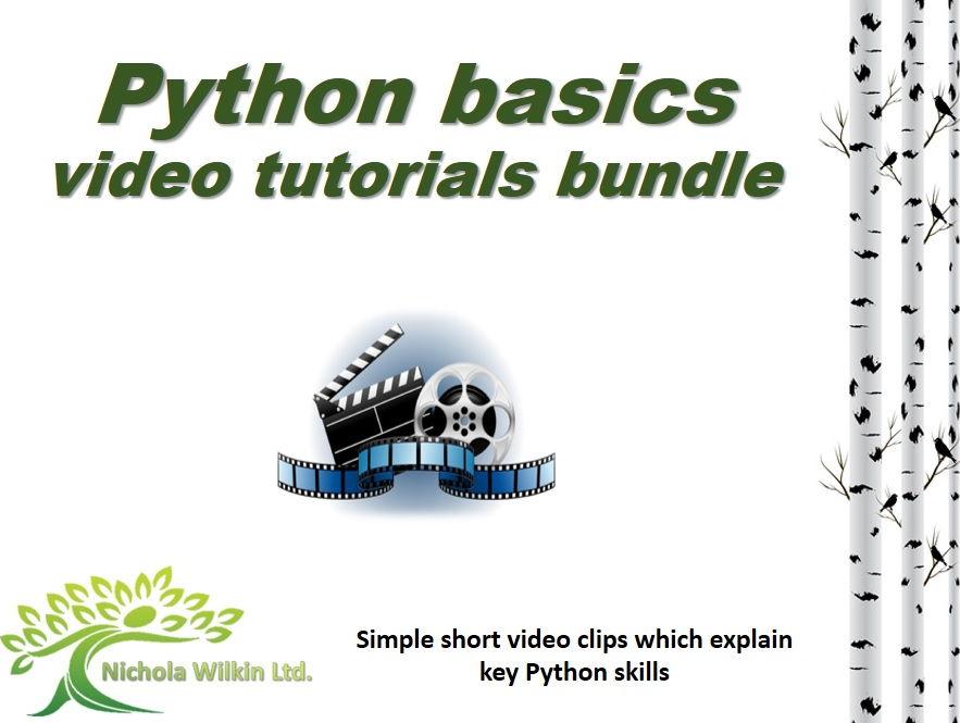 Python Basics video tutorials (GCSE Computer Science and KS3 Computing)