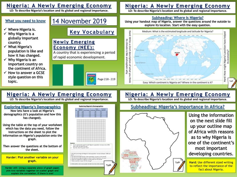 Nigeria: A Newly Emerging Economy (NEE)