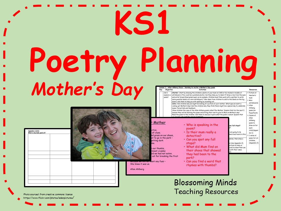 KS1 Mother's Day Poetry - 3 days