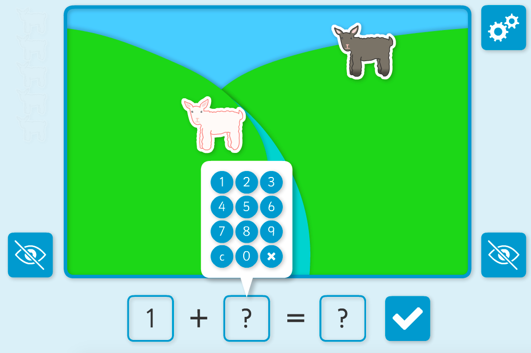 Addition to 10 - Adding Lambs Interactive Game - KS1 Number