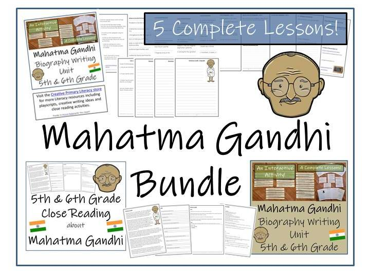 UKS2 History - Bundle of Mahatma Gandhi Activities