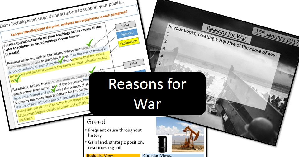 Reasons/Causes of War - AQA/OCR GCSE Religious Studies (Buddhism and Christianity)
