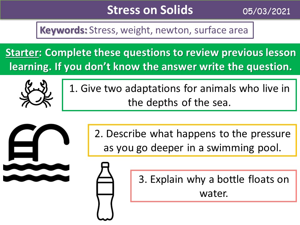 Stress on Solids