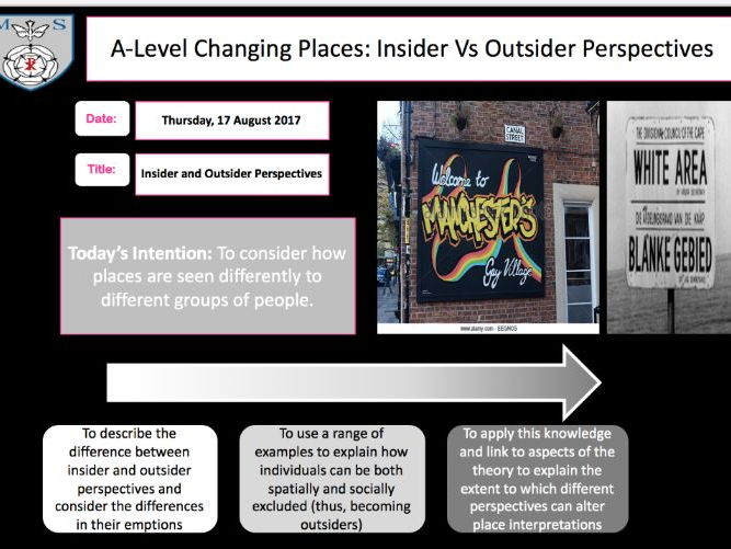 Changing Places Lesson 3- Insider Vs Outsider