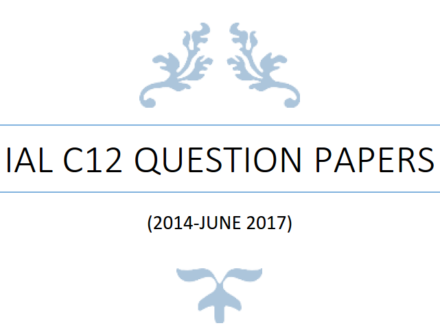 IAL C12 Math Question Papers (2014-June 2017) - without writing space