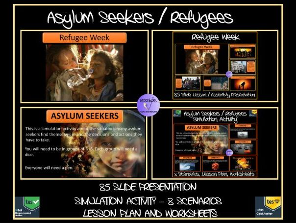 Refugee Week / Asylum Seekers Presentation, Simulation Activity Pack and Worksheets