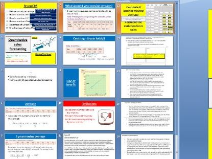 3.3.1 Quantitative sales forecasting - Theme 3 Edexcel A Level