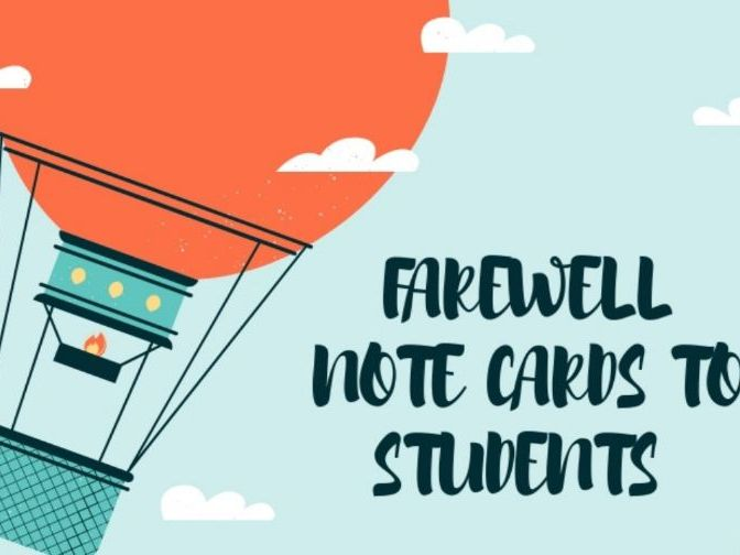 Farewell Note Cards to Students