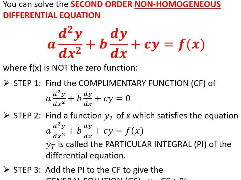 2nd order differential equations