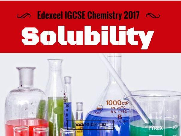 Edexcel IGCSE Solubility 1.3-1.7C