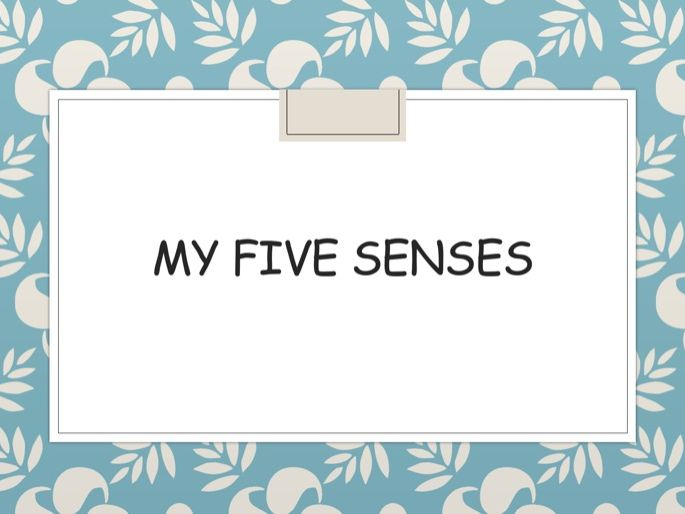 Five Senses ppt and worksheets KS1