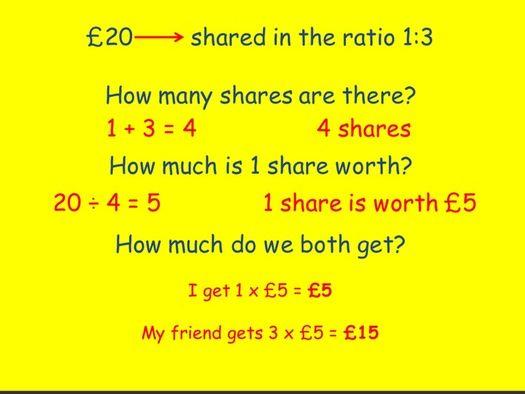 Ratio Lessons - Simplifying, Sharing & Applying