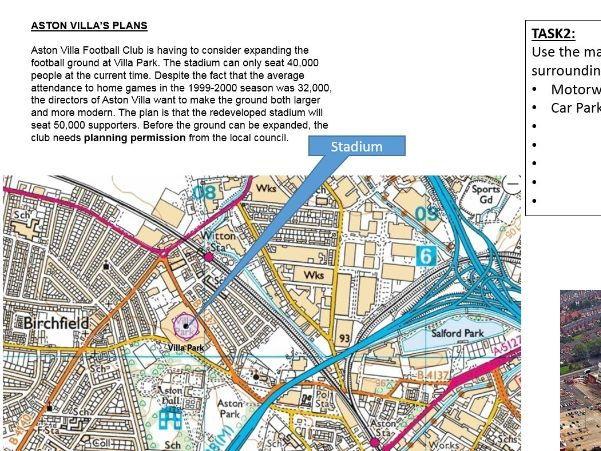Key Stage 3; sport- Aston villa stadium expansion decision making cover lesson
