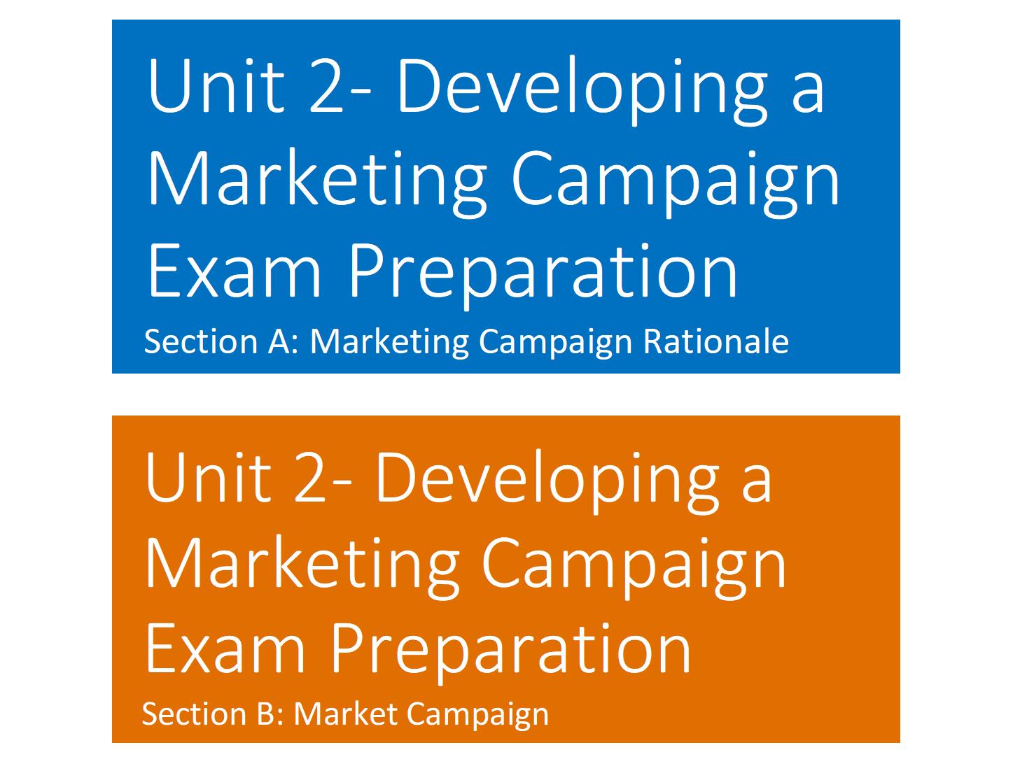 Developing a Marketing Campaign Exam Preparation