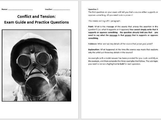 Conflict and Tension 1894-1918 Exam Guide and Practice Questions (AQA 9-1)