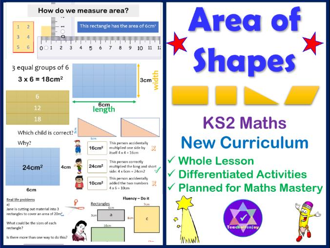 Area of Shapes KS2