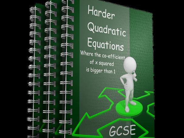 Harder Quadratic Equations animated PowerPoint GCSE