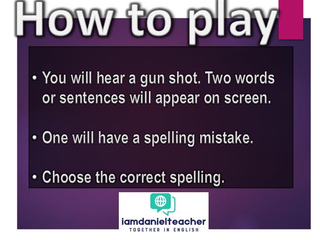 Spelling Challenge Game for KS1 & ESL