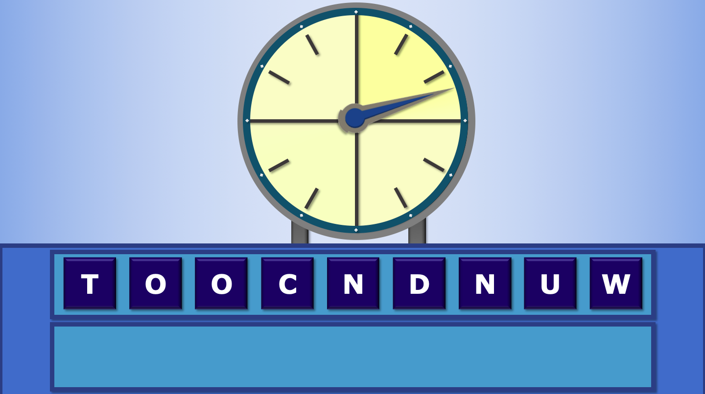 Countdown Game for Maths Vocabulary