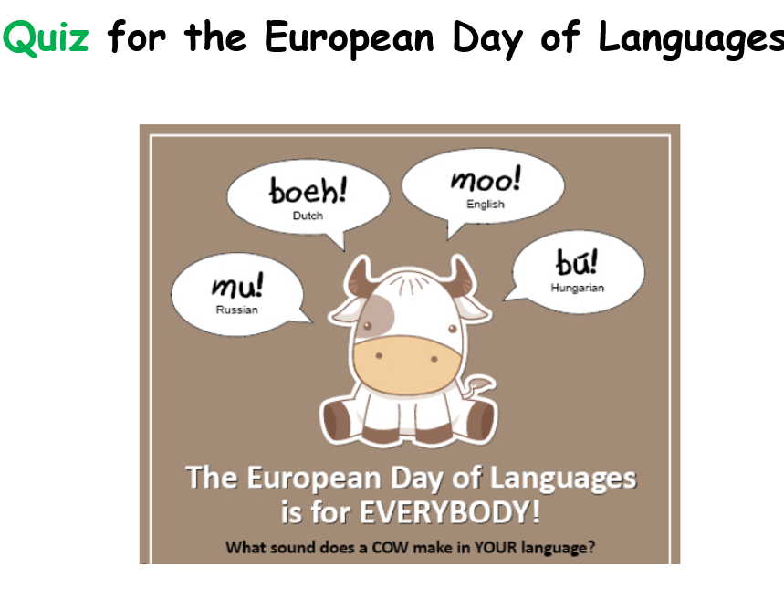 Idioms Quiz for European Day of Languages