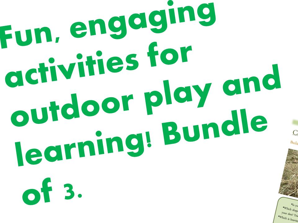 Simple, last minute children's outdoor activities