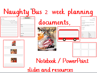 Naughty Bus Year 1 Planning, Slides and Resources