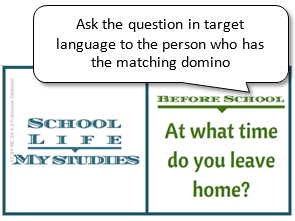 Practice or assess: Asking & answering questions about school life and studies