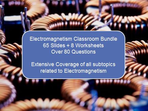 Electromagnetism Bundle (65 Slides + 8 Worksheets)
