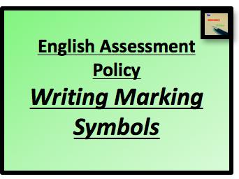 English Writing Marking Symbols and Presentation