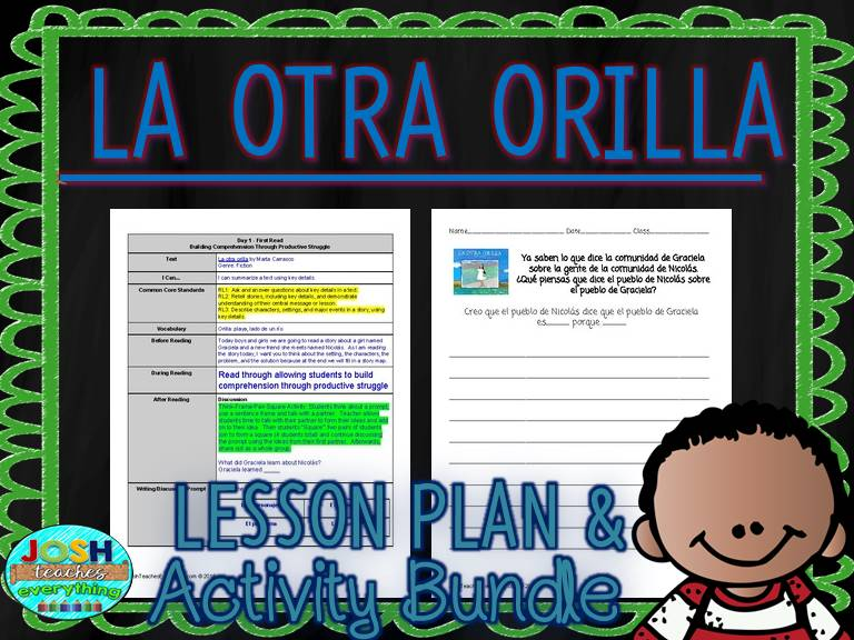 La Otra Orilla by Marta Carrasco Lesson Plan and Activities