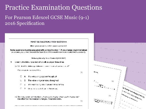 Practice Listening Questions for Pearson Edexcel GCSE Music (2016 Specification) - Area of Study 3