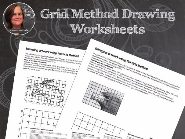 Grid Method for Drawing - Art Worksheets