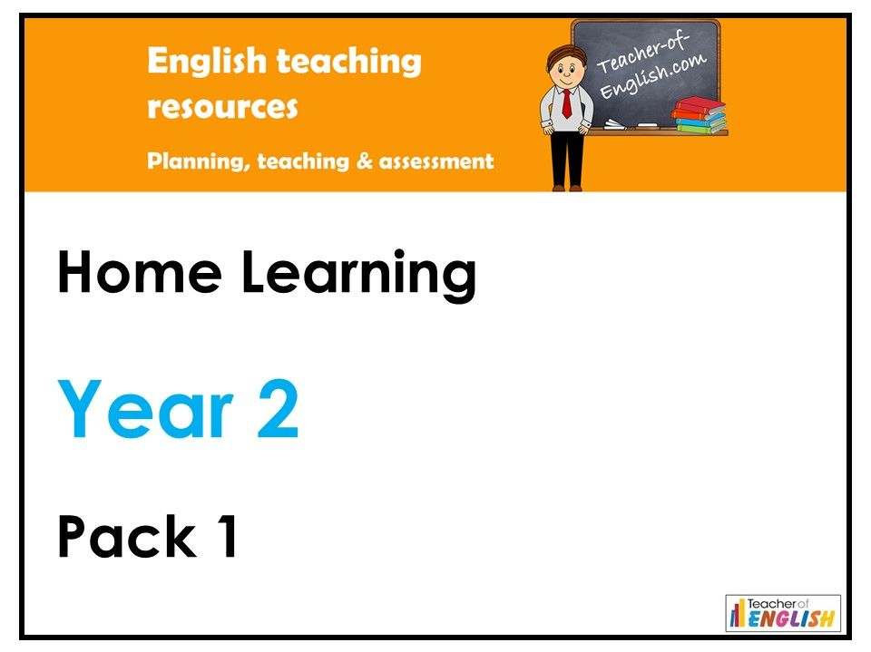 Year 2 English - Home Learning Pack 1