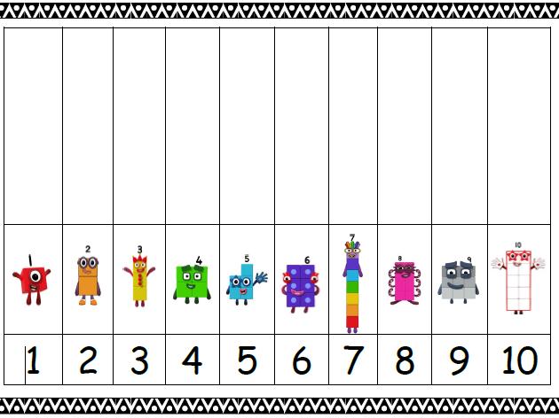 Numberblocks 1 - 10 frame | Teaching Resources