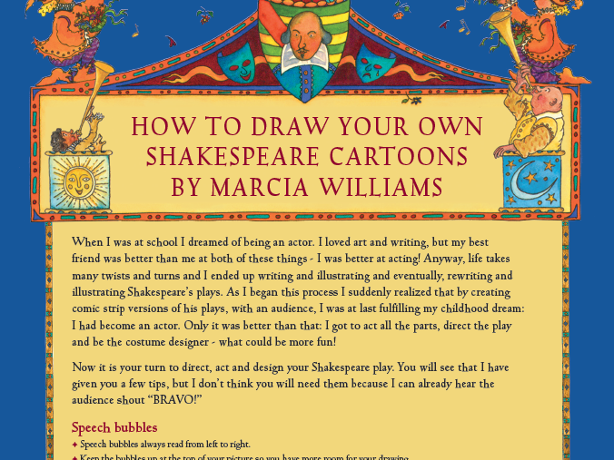 Shakespeare - Create Your Own Comic