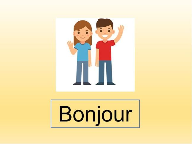 French lesson one greetings