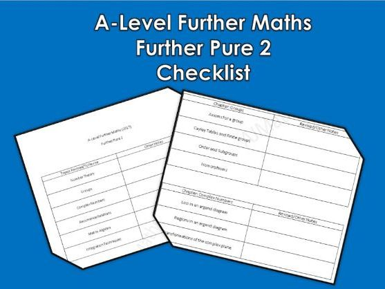 A-Level Further Maths - Further Pure 2 Checklist