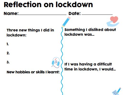 Reflecting on lockdown