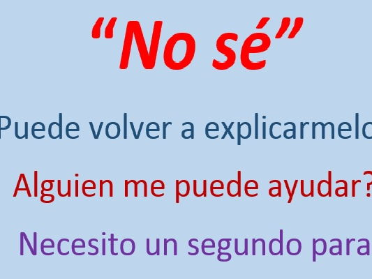 No sé: Helping Students to Speak - Spanish version