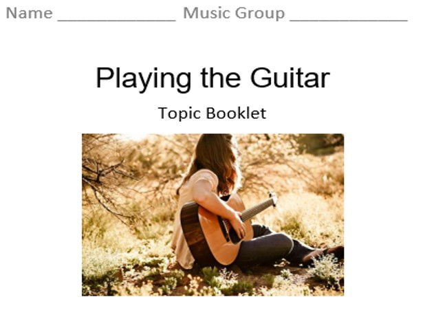 KS3 Playing the Guitar - Topic Booklet