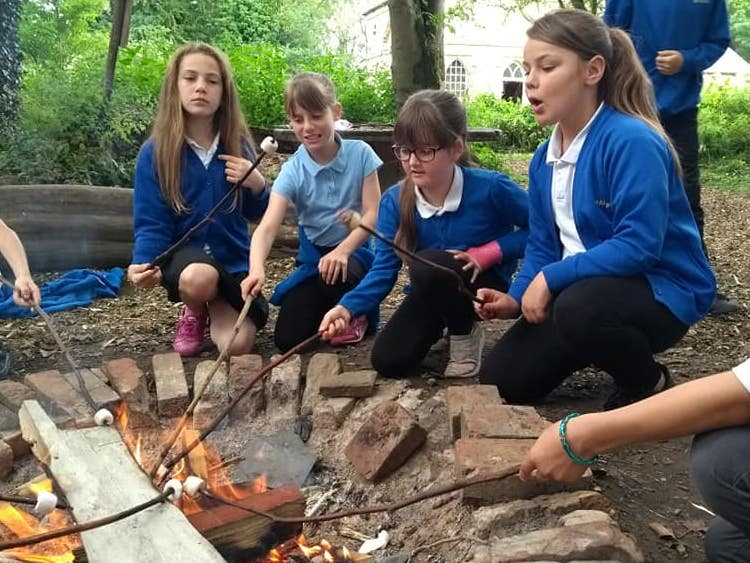 States of Matter Outdoor Learning Year 4: Cooking on a fire