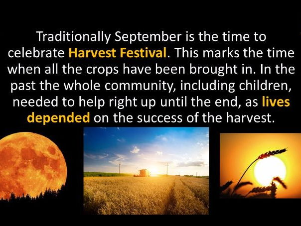 September Harvest Festival Assembly, tutor/ form time/ PSHE. Food for Thought.