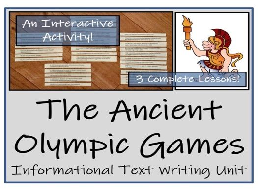 UKS2 History - Ancient Olympic Games Informational Text Writing Unit