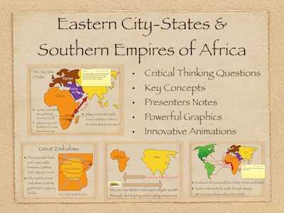 Africa: Eastern City States and Southern Empires Power Point and Keynote Presentations
