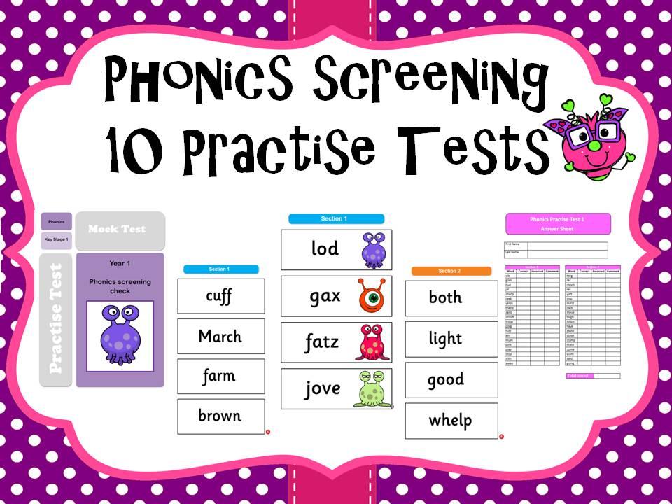 Phonics screening practice tests