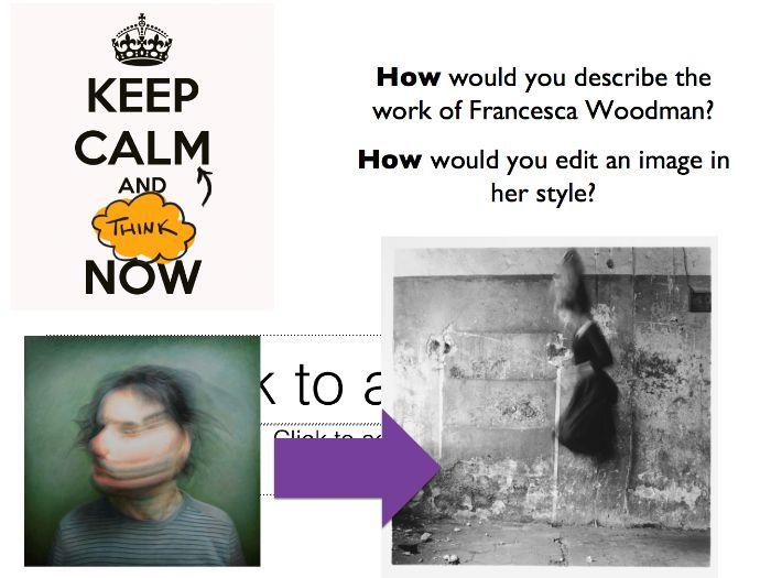 Photography - Artist Editing Francesca Woodman