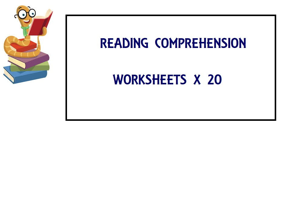 Reading Comprehension Worksheets (ESL) x 20 - SAVE 85%