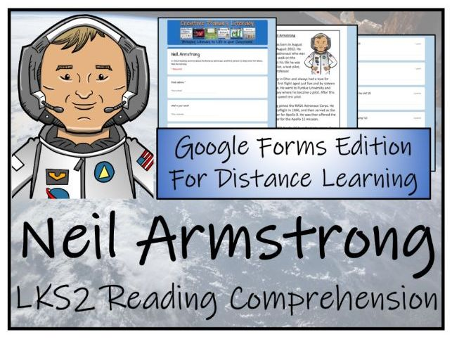 LKS2 Neil Armstrong Reading Comprehension & Distance Learning Activity